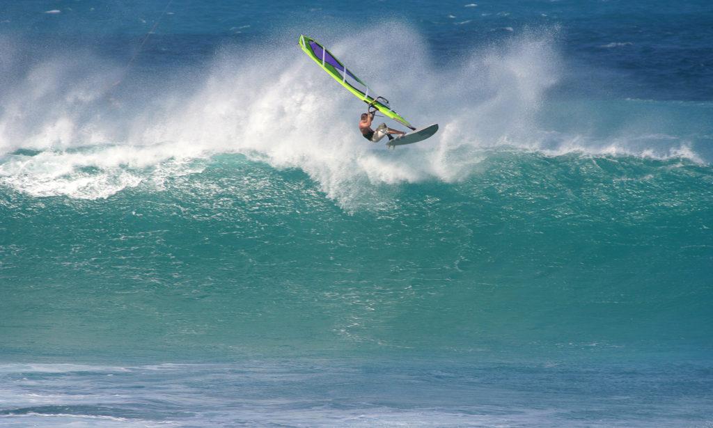 Windsurfer Welle La Tejita