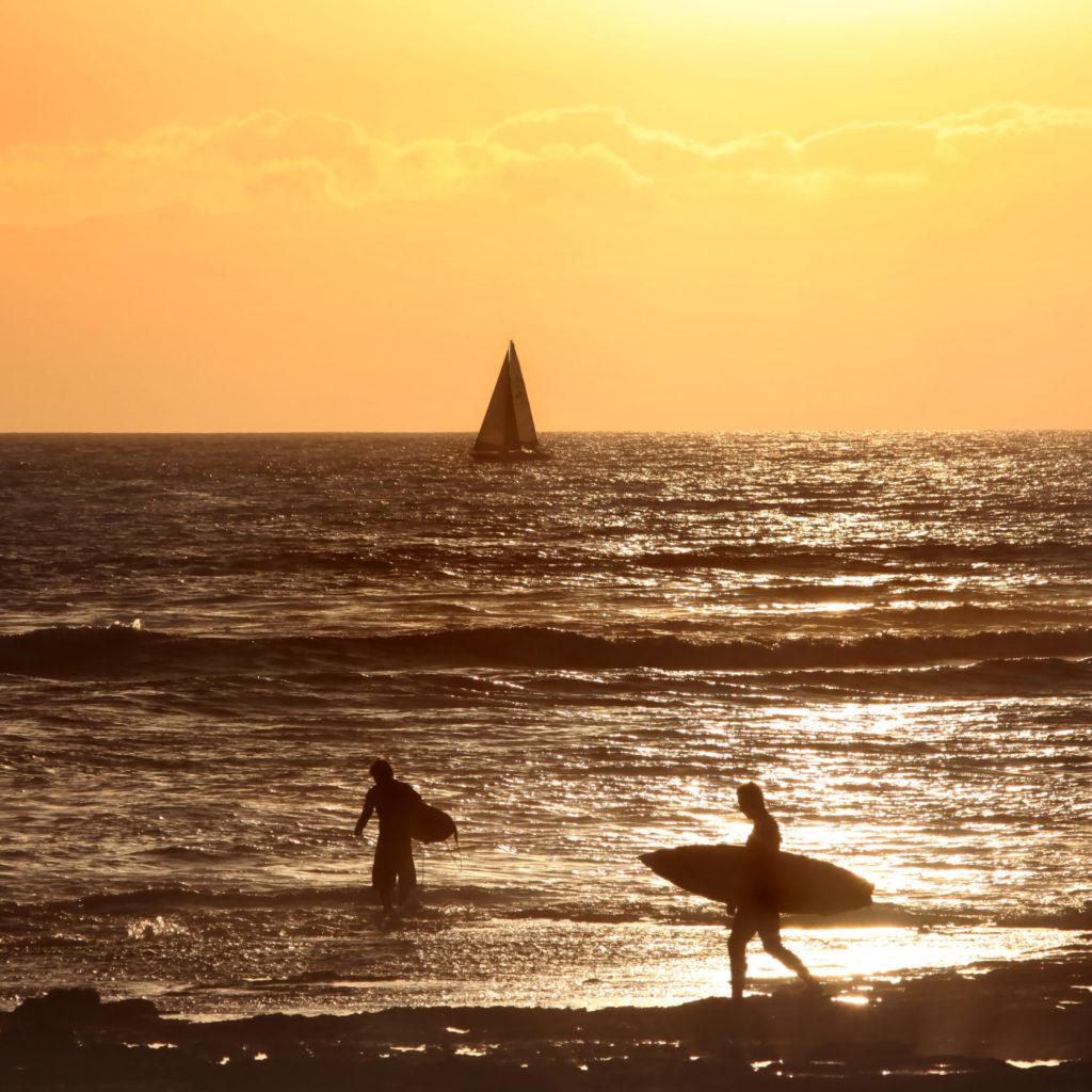 Surfing El Medano