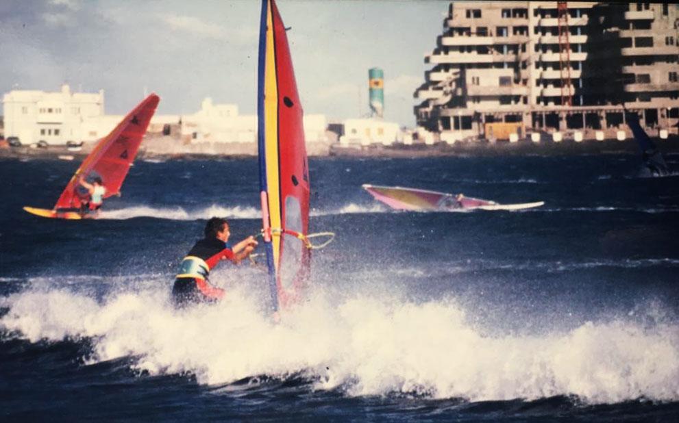 Windsurfer El Medano 80er Jahre