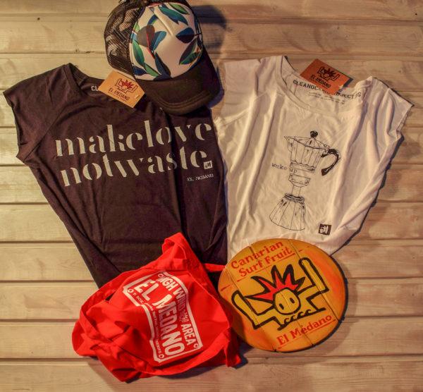 T-Shirt make love not waste Kaffee